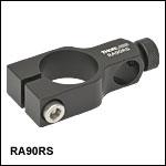 直角クランプ、Ø25 mmポストとØ12.7 mm(Ø1/2インチ)ポストの接続用