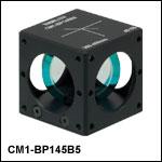 キューブマウント付きペリクルビームスプリッタ、コーティング:300~400 nm、分岐比(R:T) 45:55
