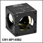 キューブマウント付きペリクルビームスプリッタ、コーティング:700~900 nm、分岐比(R:T) 45:55
