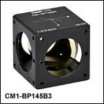 キューブマウント付きペリクルビームスプリッタ、コーティング:1.0~2.0 µm、分岐比(R:T) 45:55
