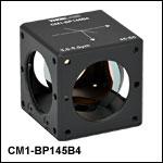 キューブマウント付きペリクルビームスプリッタ、コーティング:3.0~5.0 µm、分岐比(R:T) 45:55