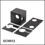 10 mm 2軸ガルバノシステム用ケージアダプタ