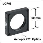 60 mmケージシステム用ネジ切り加工付きプレート、高性能クランプ付き、厚さ12.7 mm