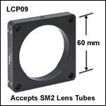 60 mmケージプレート、Ø56.0 mm(Ø2.2インチ)内孔付き