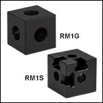 25 mmレール用コンストラクションキューブ、ザグリ穴付き