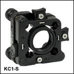 30 mmケージシステム用キネマティックマウント、SM1ネジ付き、スリッププレート付き