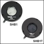 コントローラ付きダイヤフラムシャッタ、開口Ø25.4 mm(Ø1インチ)