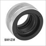 Ø25 mm~Ø25.4 mm(Ø1インチ)光学素子ならびにSM1レンズチューブ用高精密ズーム筐体、移動量4 mm