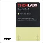 UV/可視域ビュワーカード、250~540 nm