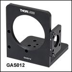 ガルバノミラーGVSx12/Mと走査レンズ取付け用ブラケット