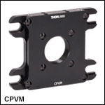 ケージシステム垂直取付けプレート、30 mmおよび60 mmケージシステム用