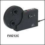 12ポジション電動フィルターホイール、Ø12.5 mm~Ø12.7 mm(Ø1/2インチ)光学素子用
