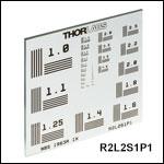 微細パターンNBS 1963A分解能(解像度)テストターゲット、50.8 mm x 50.8 mm