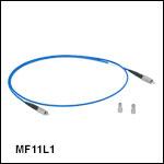 中赤外域(MIR)用InF<sub>3</sub>ファイバーパッチケーブル、コア径Ø100 µm、NA 0.26