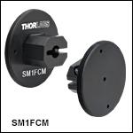 SM1外ネジ付きアダプタ、フェルール付きファイバーパッチケーブル用