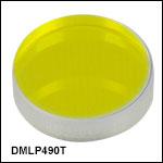 ロングパスダイクロイックミラー/ビームスプリッタ、カットオン波長:490 nm
