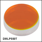 ロングパスダイクロイックミラー/ビームスプリッタ、カットオン波長:550 nm