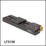 コントローラ内蔵ステッピングモータ直線移動ステージ、移動量150 mm