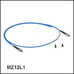 中赤外域(MIR)用ZrF<sub>4</sub>ファイバーパッチケーブル、コア径Ø100 µm、NA 0.20