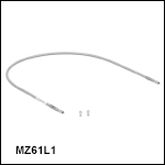 中赤外域(MIR)用ZrF<sub>4</sub>ファイバーパッチケーブル、コア径Ø600 µm、NA 0.20