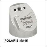Ø25.4 mm(Ø1インチ) Polarisミラーマウント用45°取付けアダプタ