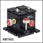調整用つまみネジ付き3軸MicroBlockステージ