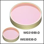 サファイアウィンドウ、ARコーティング:1.65~3.0 µm