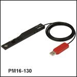 小型USBパワーメータ、薄型フォトダイオードセンサ付き