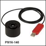 小型USBパワーメータ、積分球センサ付き