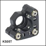 Ø12 mm~Ø12.7 mm(Ø1/2インチ)光学素子用精密キネマティックミラーマウント、SM05ネジ付き