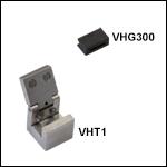 ファイバ移動用クランプとV溝付きグラファイト(VHFシリーズ移動用底部インサートに必要)