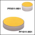 保護膜付きZerodur金ミラー(800 nm~20 µm)