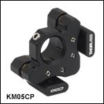 ポストセンタリングプレート付きキネマティックマウント、Ø12 mm~Ø12.7 mm(Ø1/2インチ)光学素子用