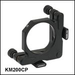 ポストセンタリングプレート付きキネマティックマウント、Ø50 mm~Ø50.8 mm(Ø2インチ)光学素子用