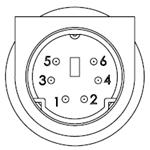 6 Pin Mini Din Male Connector