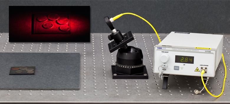 Figure 1: Setup for Reflection Holography