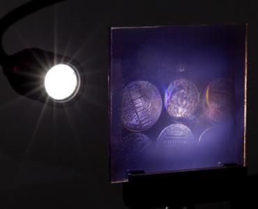 Figure 3: Hologram viewed in transmission