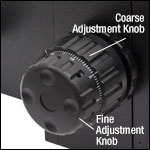 Fine and Coarse Adjustment Knobs