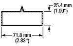 Borosilicate Cell Dimensions