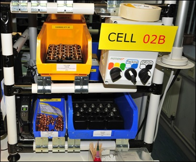 Close-Up of Manufacturing Cell