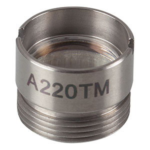 A220TM - f = 11.0 mm, NA = 0.26, Mounted Rochester Aspheric Lens, Uncoated