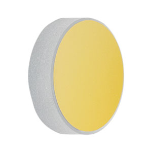 CM254-075-M01 - Ø1in Gold-Coated Concave Mirror, f = 75.0 mm