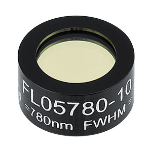 FL05780-10 - Ø1/2in Laser Line Filter, CWL = 780 ± 2 nm, FWHM = 10 ± 2 nm