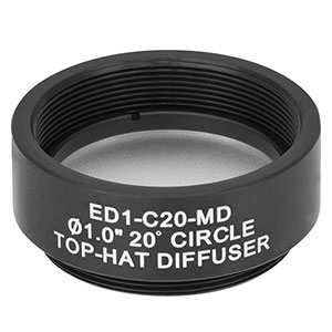 ED1-C20-MD - SM1-Threaded Mount, Ø1in 20° Circle Tophat Engineered Diffuser