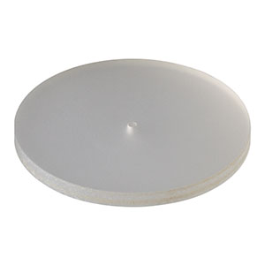 DG10-1500-H1 - Frosted Glass Alignment Disk, Ø1in w/ Ø1 mm Hole