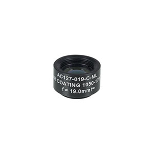 AC127-019-C-ML - f=19 mm, Ø1/2in Achromatic Doublet SM05-Threaded Mount, ARC: 1050-1700 nm