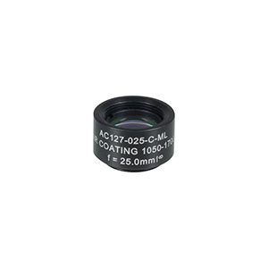 AC127-025-C-ML - f=25 mm, Ø1/2in Achromatic Doublet SM05-Threaded Mount, ARC: 1050-1700 nm