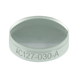 AC127-030-A - f = 30 mm, Ø1/2in Achromatic Doublet, ARC: 400 - 700 nm