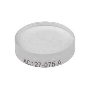AC127-075-A - f = 75.0 mm, Ø1/2in Achromatic Doublet, ARC: 400 - 700 nm