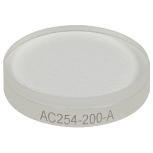 AC254-200-A - f = 200.0 mm, Ø1in Achromatic Doublet, ARC: 400 - 700 nm